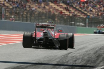 World © Octane Photographic Ltd. Friday 9th May 2014. Circuit de Catalunya - Spain - Formula 1 Practice 2 pitlane. Scuderia Ferrari F14T – Kimi Raikkonen. Digital Ref: