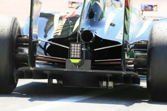 World © Octane Photographic Ltd. Friday 9th May 2014. Circuit de Catalunya - Spain - Formula 1 Practice 2 pitlane. Lotus F1 Team E22 - Romain Grosjean. Digital Ref: