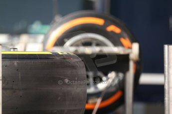 World © Octane Photographic Ltd. Friday 9th May 2014. GP2 Pirelli tyre choice. Digital Ref : 0927cb7d8706