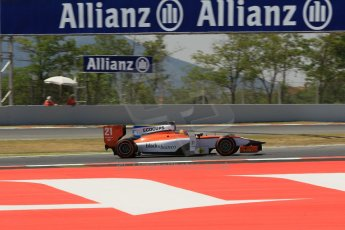 World © Octane Photographic Ltd. Friday 9th May 2014. GP2 Practice – Circuit de Catalunya, Barcelona, Spain. Tio Ellinas - MP Motorsport. Digital Ref : 0927lb1d3151