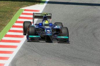 World © Octane Photographic Ltd. Friday 9th May 2014. GP2 Practice – Circuit de Catalunya, Barcelona, Spain. Julian Leal - Carlin. Digital Ref : 0927lb1d4638