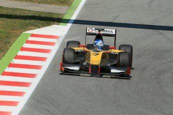 World © Octane Photographic Ltd. Friday 9th May 2014. GP2 Practice – Circuit de Catalunya, Barcelona, Spain. Jolyon Palmer - DAMS – Digital Ref : 0927lb1d4678
