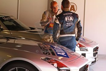 World © Octane Photographic Ltd. Friday 9th May 2014. Circuit de Catalunya – Barcelona, Spain. F1 Practice 1Pitlane - Mercedes SLS AMG Safety Car with Dr.Ian Roberts. Digital Ref :