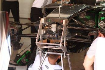 World © Octane Photographic Ltd. Friday 9th May 2014. Circuit de Catalunya - Spain - Formula 1 Practice 1 pitlane. McLaren Mercedes MP4/29. Digital Ref: