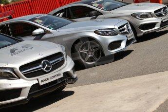 World © Octane Photographic Ltd. Friday 9th May 2014. Circuit de Catalunya – Barcelona, Spain. F1 Practice 1Pitlane - Mercedes Circuit cars. Digital Ref :