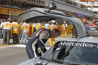 World © Octane Photographic Ltd. Mercedes SLS AMG F1/GP2/GP3 Safety Car - Leon Price (GP2 Safety car observer). Digital Ref : 0939cb7d0098
