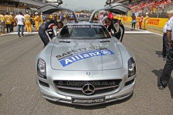 World © Octane Photographic Ltd. Mercedes SLS AMG F1/GP2/GP3 Safety Car - Bernd Maylander and Leon Price (GP2 Safety car observer). Digital Ref : 0939cb7d0103