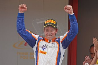 World © Octane Photographic Ltd. Saturday 10th May 2014. GP2 Race 1 Podium – Circuit de Catalunya, Barcelona, Spain. Johnny Cecotto - Trident (1st). Digital Ref :