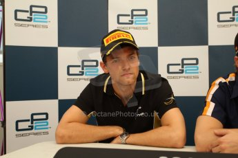 World © Octane Photographic Ltd. Saturday 10th May 2014. GP2 Race 1 Press conference – Circuit de Catalunya, Barcelona, Jolyon Palmer - DAMS (2nd). Digital Ref :