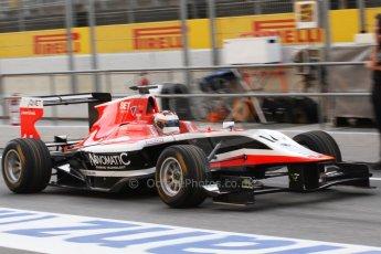 World © Octane Photographic Ltd. Saturday 10th May 2014. GP3 Qualifying – Circuit de Catalunya, Barcelona, Spain. Patrick Kujala - Marussia Manor Racing. Digital Ref :