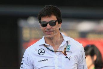 World © 2013 Octane Photographic Ltd. F1 Spanish GP, Circuit de Catalunya - Saturday 10th May 2014 - F1 Paddock. Toto Wolff. Mercedes W05. Digital Ref : 0933lb1d6321