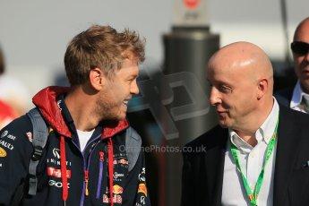 World © Octane Photographic Ltd. Saturday 10th May 2014. Circuit de Catalunya - Spain - Formula 1 Paddock. Infiniti Red Bull Racing RB10 - Sebastian Vettel. Digital Ref: 0933lb1d6421