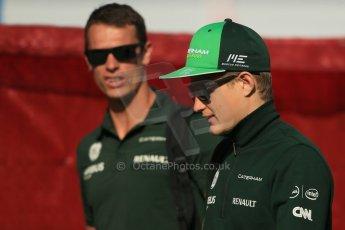 World © Octane Photographic Ltd. Saturday 10th May 2014. Circuit de Catalunya - Spain - Formula 1 Paddock. Caterham F1 Team CT05 – Marcus Ericsson. Digital Ref: 0933lb1d6436
