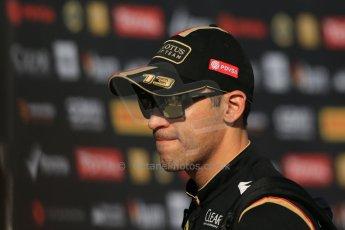 World © Octane Photographic Ltd. Saturday 10th May 2014. Circuit de Catalunya - Spain - Formula 1 Paddock. Lotus F1 Team E22 – Pastor Maldonado. Digital Ref: 0933lb1d6479