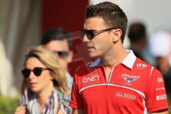 World © Octane Photographic Ltd. Saturday 10th May 2014. Circuit de Catalunya - Spain - Formula 1 Paddock. Marussia F1 Team MR03 - Jules Bianchi. Digital Ref: 0933lb1d6498