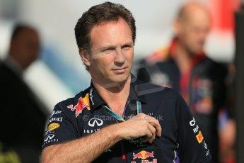 World © Octane Photographic Ltd. Saturday 10th May 2014. Circuit de Catalunya - Spain - Formula 1 Practice 3. Infiniti Red Bull Racing RB10 -  Christian Horner. Digital Ref:  0933lb1d6553