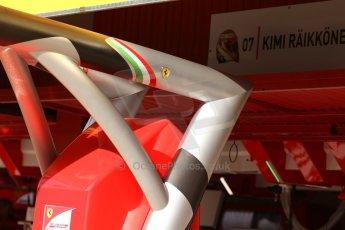 World © Octane Photographic Ltd. Saturday 10th May 2014. Circuit de Catalunya - Spain - Formula 1 Practice 3. Scuderia Ferrari F14T - Overhead gantry. Digital Ref: 0935cb7d9600