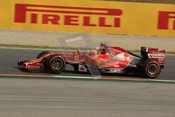 World © Octane Photographic Ltd. Saturday 10th May 2014. Circuit de Catalunya - Spain - Formula 1 Practice 3. Scuderia Ferrari F14T – Kimi Raikkonen. Digital Ref: 0935lb1d3504
