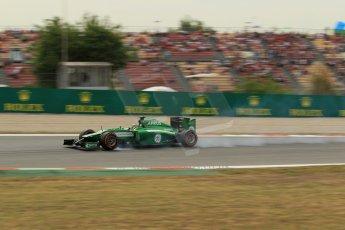 World © Octane Photographic Ltd. Saturday 10th May 2014. Circuit de Catalunya - Spain - Formula 1 Practice 3. Caterham F1 Team CT05 – Kamui Kobayashi. Digital Ref: 0935lb1d3774