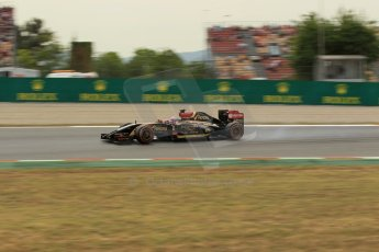 World © Octane Photographic Ltd. Saturday 10th May 2014. Circuit de Catalunya - Spain - Formula 1 Practice 3. Lotus F1 Team E22 – Pastor Maldonado. Digital Ref: 0935lb1d3786