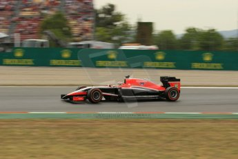 World © Octane Photographic Ltd. Saturday 10th May 2014. Circuit de Catalunya - Spain - Formula 1 Practice 3. Marussia F1 Team MR03 - Jules Bianchi. Digital Ref: 0935lb1d3816