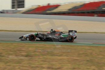 World © Octane Photographic Ltd. Saturday 10th May 2014. Circuit de Catalunya - Spain - Formula 1 Practice 3. Sahara Force India VJM07 – Nico Hulkenburg. Digital Ref : 0935lb1d3851