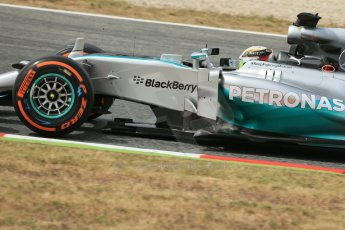 World © Octane Photographic Ltd. Saturday 10th May 2014. Circuit de Catalunya - Spain - Formula 1 Practice 3. Mercedes AMG Petronas F1 W05 Hybrid - Nico Rosberg. Digital Ref: 0935lb1d7198