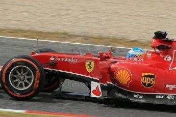 World © Octane Photographic Ltd. Saturday 10th May 2014. Circuit de Catalunya - Spain - Formula 1 Practice 3. Scuderia Ferrari F14T - Fernando Alonso. Digital Ref: 0935lb1d7271