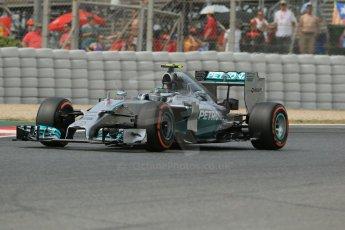 World © Octane Photographic Ltd. Saturday 10th May 2014. Circuit de Catalunya - Spain - Formula 1 Practice 3. Mercedes AMG Petronas F1 W05 Hybrid – Lewis Hamilton. Digital Ref: 0935lb1d7314