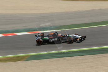 World © Octane Photographic Ltd. Saturday 10th May 2014. Circuit de Catalunya - Spain - Formula 1 Qualifying. Sahara Force India VJM07 – Nico Hulkenburg. Digital Ref : 0936lb1d3966