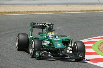 World © Octane Photographic Ltd. Saturday 10th May 2014. Circuit de Catalunya - Spain - Formula 1 Qualifying. Caterham F1 Team CT05 – Marcus Ericsson. Digital Ref: 0936lb1d7526