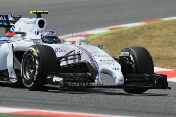 World © Octane Photographic Ltd. Saturday 10th May 2014. Circuit de Catalunya - Spain - Formula 1 Qualifying. Williams Martini Racing FW36 – Valtteri Bottas Digital Ref: 0936lb1d7788