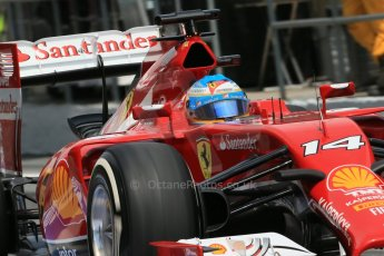 World © Octane Photographic Ltd. Saturday 10th May 2014. Circuit de Catalunya - Spain - Formula 1 Qualifying. Scuderia Ferrari F14T - Fernando Alonso. Digital Ref: 0936lb1d8100