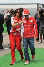 World © Octane Photographic Ltd. Sunday 11th May 2014. Circuit de Catalunya - Spain - Formula 1 Driver Parade. Scuderia Ferrari F14T - Fernando Alonso. Digital Ref: