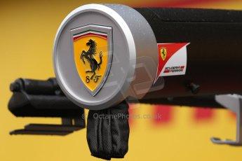 World © Octane Photographic Ltd. Sunday 11th May 2014. Circuit de Catalunya, Barcelona, Spain. Ferrari gantry. Digital Ref :