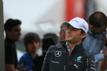World © Octane Photographic Ltd. Sunday 11th May 2014. Circuit de Catalunya - Spain - Formula 1 Paddock. Mercedes AMG Petronas F1 W05 Hybrid - Nico Rosberg. Digital Ref: