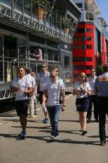 World © Octane Photographic Ltd. Thursday 8th May 2014. Circuit de Catalunya - Spain - Formula 1 Paddock. Williams Martini Racing FW36 – Valtteri Bottas Digital Ref: 0922lb1d2750