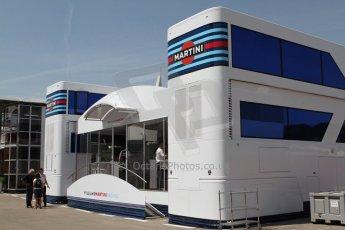 World © Octane Photographic Ltd. Thursday 8th May 2014. Circuit de Catalunya - Spain - Formula 1 Paddock. Williams Martini Racing paddock hospitality. Digital Ref: 0922lw7d8602