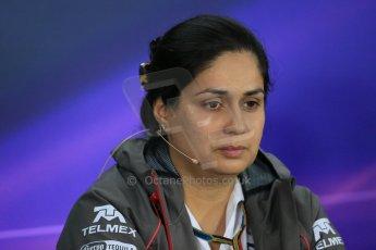 World © Octane Photographic Ltd. Friday 31st October 2014, F1 USA GP, Austin, Texas, Circuit of the Americas (COTA) - FIA Press Conference. Sauber F1 Team Team Principle – Monisha Kaltenborn. Digital Ref: 1146LB1D9234