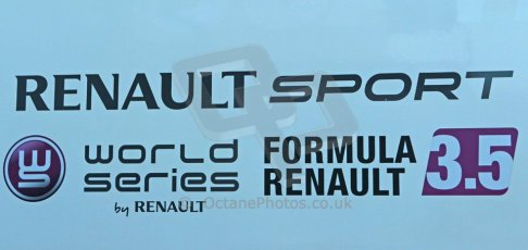 World © Octane Photographic Ltd. World Series by Renault collective test, Jerez de la Frontera, March 24th 2014. World Series by Renault 3.5 logo. Digital Ref : 0897cb1d4439