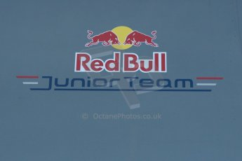 World © Octane Photographic Ltd. World Series by Renault collective test, Jerez de la Frontera, March 24th 2014. Red Bull Junior Team logo. Digital Ref : 0897cb1d4465