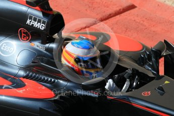 World © Octane Photographic Ltd. McLaren Honda MP4/30 – Fernando Alonso. Friday 27th November 2015, F1 Abu Dhabi Grand Prix, Practice 1, Yas Marina. Digital Ref: 1477CB1L5148