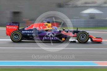 World © Octane Photographic Ltd. Infiniti Red Bull Racing RB11 – Daniel Ricciardo. Friday 27th November 2015, F1 Abu Dhabi Grand Prix, Practice 1, Yas Marina. Digital Ref: 1477CB1L5254