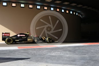 World © Octane Photographic Ltd. Lotus F1 Team E23 Hybrid – Pastor Maldonado. Friday 27th November 2015, F1 Abu Dhabi Grand Prix, Practice 1, Yas Marina. Digital Ref: 1477CB7D1659