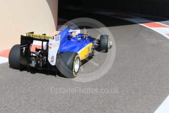 World © Octane Photographic Ltd. Sauber F1 Team C34-Ferrari – Marcus Ericsson. Friday 27th November 2015, F1 Abu Dhabi Grand Prix, Practice 1, Yas Marina. Digital Ref: 1477CB7D1688