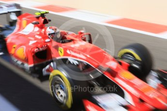 World © Octane Photographic Ltd. Scuderia Ferrari SF15-T– Kimi Raikkonen. Friday 27th November 2015, F1 Abu Dhabi Grand Prix, Practice 1, Yas Marina. Digital Ref: 1477CB7D1744