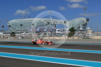 World © Octane Photographic Ltd. Scuderia Ferrari SF15-T– Sebastian Vettel. Friday 27th November 2015, F1 Abu Dhabi Grand Prix, Practice 1, Yas Marina. Digital Ref: 1477LB1D6189