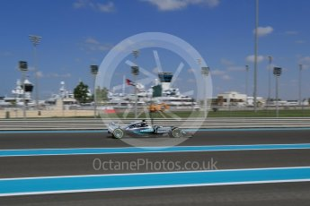 World © Octane Photographic Ltd. Mercedes AMG Petronas F1 W06 Hybrid – Nico Rosberg. Friday 27th November 2015, F1 Abu Dhabi Grand Prix, Practice 1, Yas Marina. Digital Ref: 1477LB1D6296
