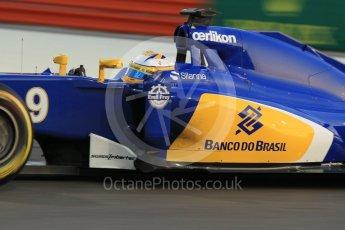 World © Octane Photographic Ltd. Sauber F1 Team C34-Ferrari – Marcus Ericsson. Friday 27th November 2015, F1 Abu Dhabi Grand Prix, Practice 2, Yas Marina. Digital Ref: 1478CB1L5815