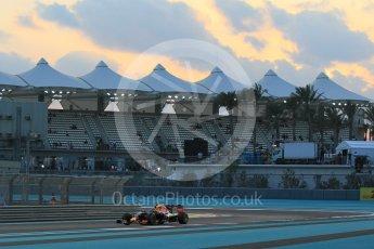 World © Octane Photographic Ltd. Infiniti Red Bull Racing RB11 – Daniil Kvyat. Friday 27th November 2015, F1 Abu Dhabi Grand Prix, Practice 2, Yas Marina. Digital Ref: 1478CB1L5861